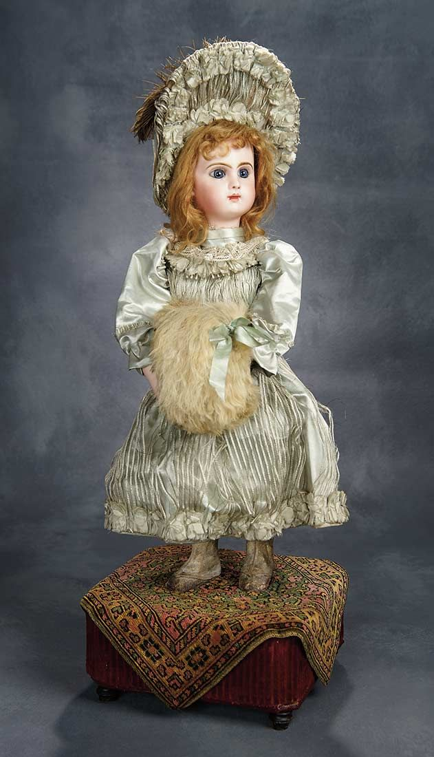 """""""The Voyage Continues"""" - Saturday, January 7, 2017: 53 French Musical Automaton """"Girl Blowing Kisses, Catching Her Breath"""" Roullet et Decamps"""