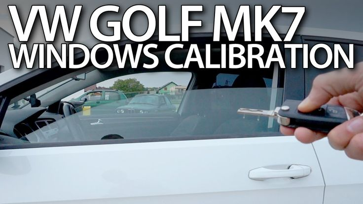 #Volkswagen #Golf MK7 windows #calibration (remote opening closing adaptation) #cars