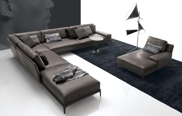 PARK Sofa aus Leder by Poliform Design Carlo Colombo
