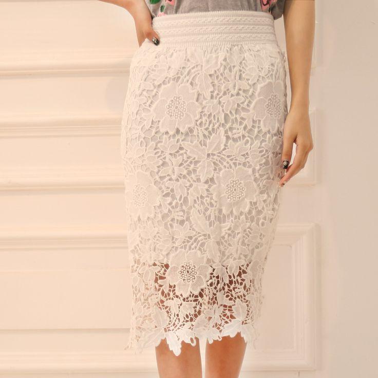 Купить товарПрямо в середине   средний икры белые кружевные юбки для женщин юбка карандаш женщин Saia Faldas Saias юп миди юбка юбка женщины 2015 в категории Юбкина AliExpress.                                                         Примечание: пожалуйста, позвольте 1-2 см разли