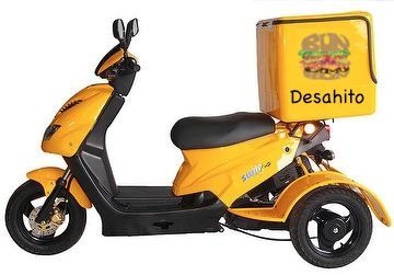 Desaito's delivery scooters!