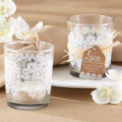 """Lace"" Glass Tealight Holder (Set of 4)"