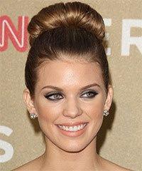 AnnaLynne McCord Long Straight Formal Updo Hairstyle  Light Golden Brunette Hair Color