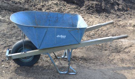 Jackson Wheelbarrow - Love how Mike McGroarty uses this as a seat by tipping the handles down to the ground to take a rest when he's working! Smart!!