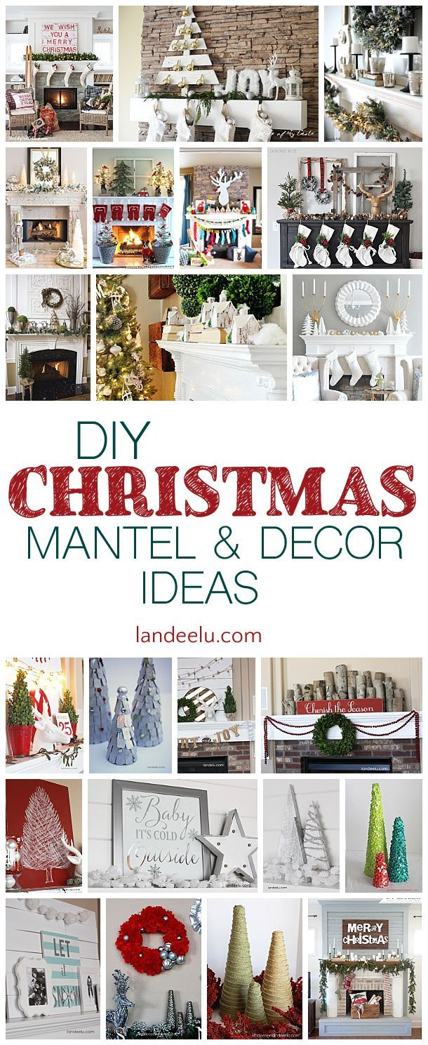 Have yourself a merry DIY Christmas with these beautiful mantel and decor ideas! Create a beautiful home this Christmas and celebrate!