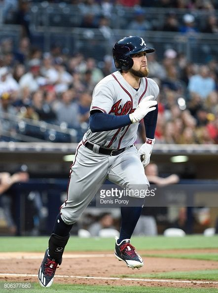 Ender Inciarte of the Atlanta Braves plays during a baseball game against the San Diego Padres at PETCO Park on June 29, 2017 in San Diego, California.