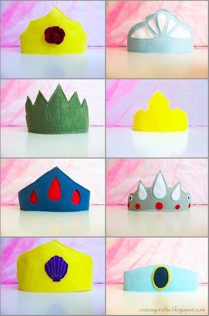 Make Your Own: Felt Superhero Masks & Princess Crowns – Free Downloadable Templates   Bambino Goodies