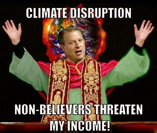 Gore and his global warming....as phony as a TV evangelist :/