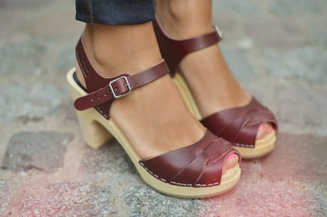 These burgundy clogs will go with everything.