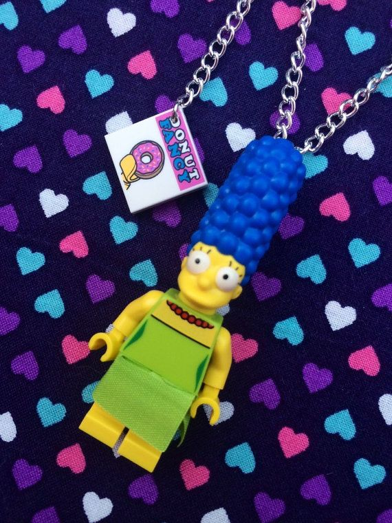 The Simpsons Marge Simpson Necklace...Handmade using LEGO® parts on Etsy, $17.26