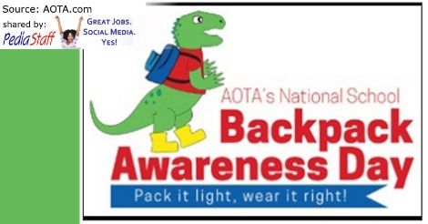 Get Ready for National School Backpack Awareness Day – Sept. 21, 2016 - pinned by @PediaStaff – Please Visit ht.ly/63sNtfor all our pediatric therapy pins