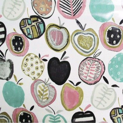 Tissu coton pvc imprimé Apples
