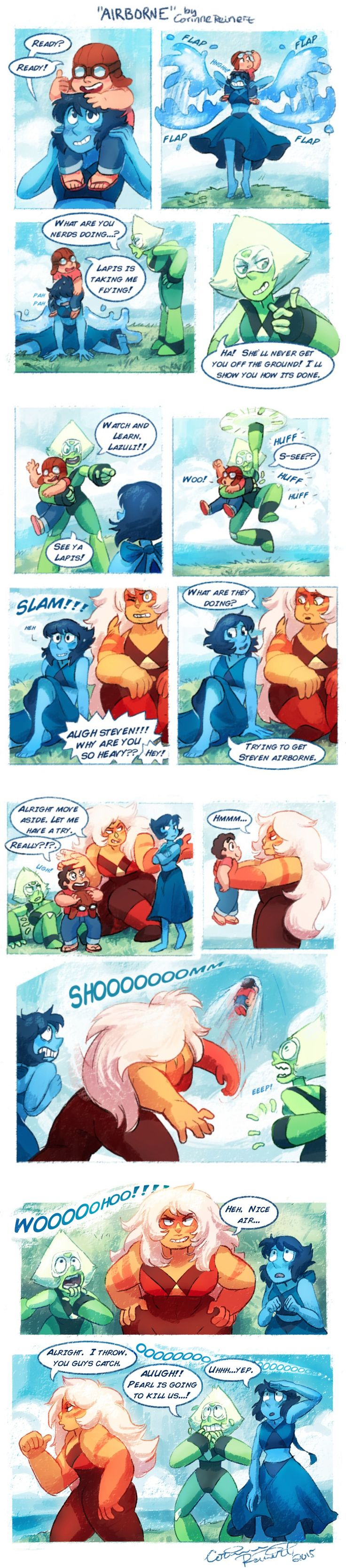 Steven, Lapis, Peridot, and Jasper #comic