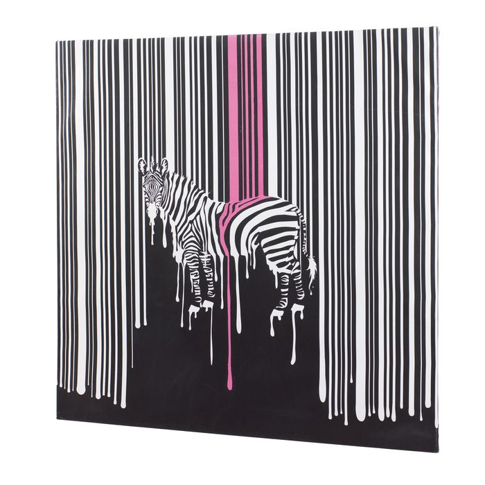 Melting zebra canvas
