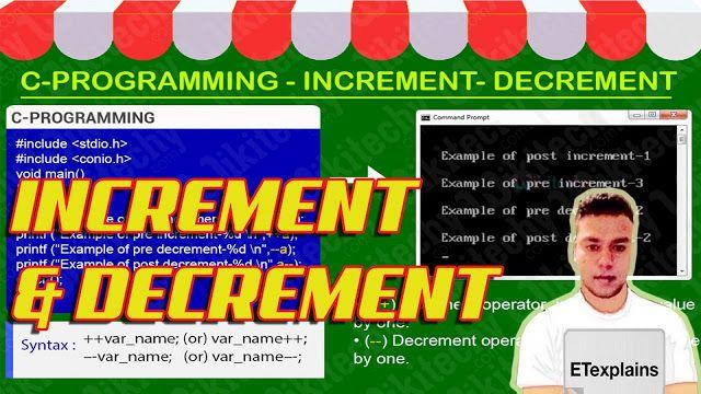 Programming (C & C++) : C Programming Tutorial - Increment