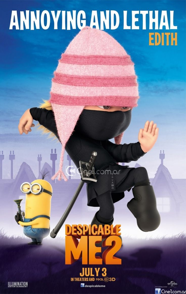 despicable me 2 movie agnes posters | ... – Margo, Edith, and Agnes (click on the posters to enlarge