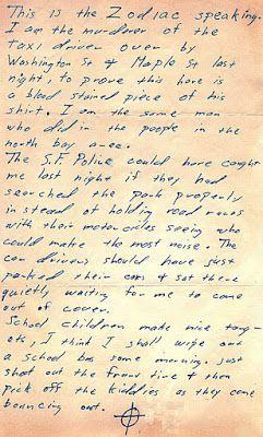 Zodiac Killer, Stine Letter