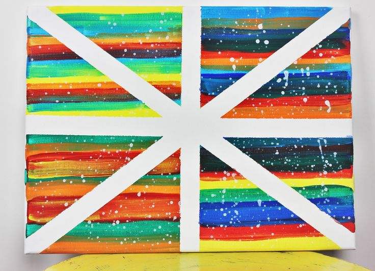 How to change a blank canvas into a colorful picture - Easy Tutorial - DIY