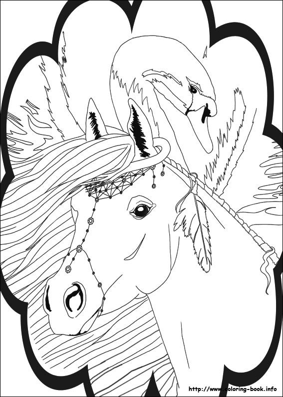 Bella Sara Coloring Page 2 Is A From BookLet Your Children Express Their Imagination When They Color The