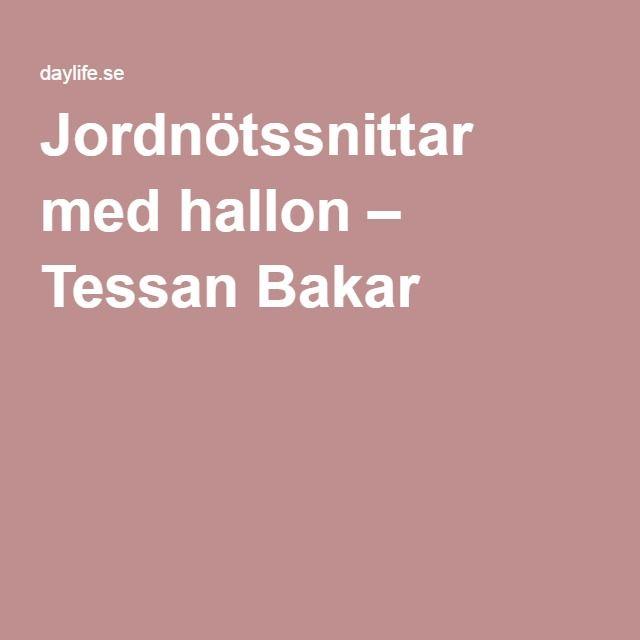 Jordnötssnittar med hallon – Tessan Bakar