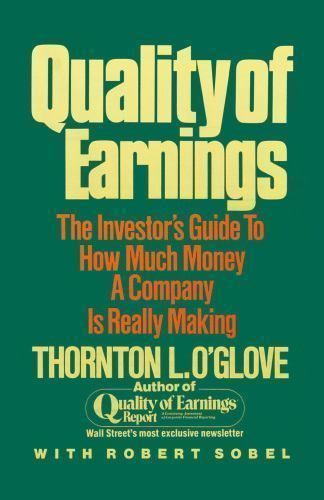Quality of Earnings by Thornton L. O'glove Paperback Book (D)