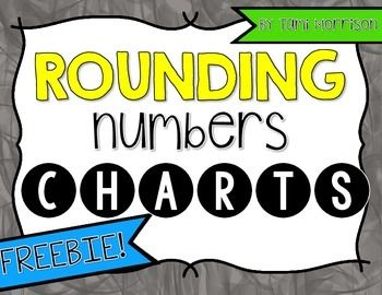 Sweet and simple charts to help your students remember how to round a number!