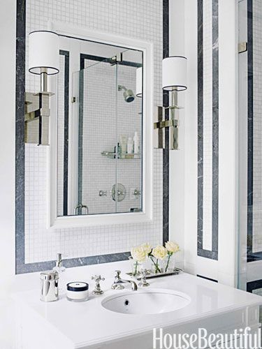 Small Bathrooms House Beautiful 281 best powder rooms images on pinterest | room, bathroom ideas