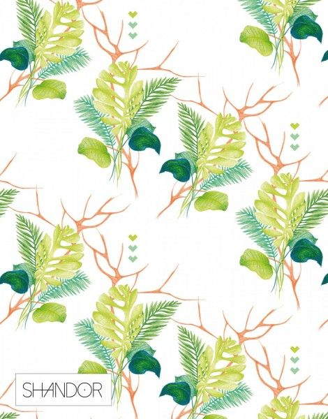 Shandor collection, #foulard graphique, #pattern design - motifs #jungle tropicale