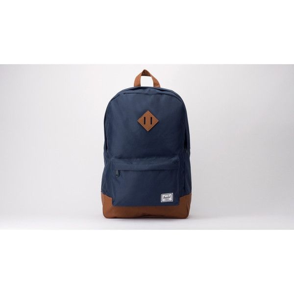 Herschel Heritage Backpack (835 ARS) ❤ liked on Polyvore featuring bags, backpacks, navy, herschel rucksack, zip bags, zipper bag, herschel backpack and evening bags