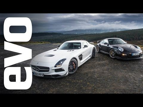 Porsche 911 GT2 RS vs. Mercedes SLS AMG Black in battle of who can shred more rubber