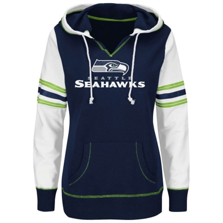 seattle seahawks majestic womenu0027s touchdown obsession pullover hoodie college navy