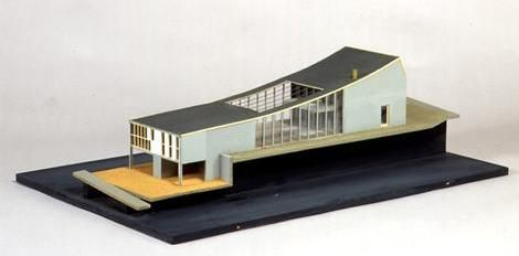 model of Robin Boyd house, Melbourne