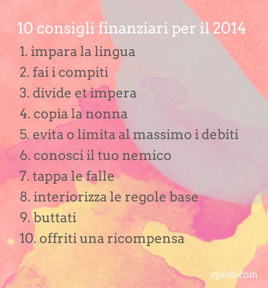 10 cose di soldi per il 2014 #cpiub