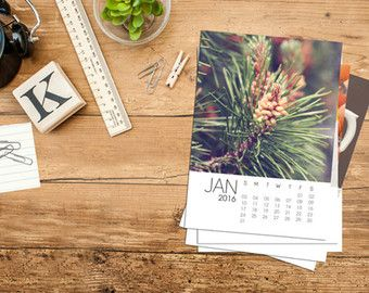 2016 Calendar, 5x7 calendar, photo calendar, this and that calendar, desk calendar, calendar, picture calendar, photography