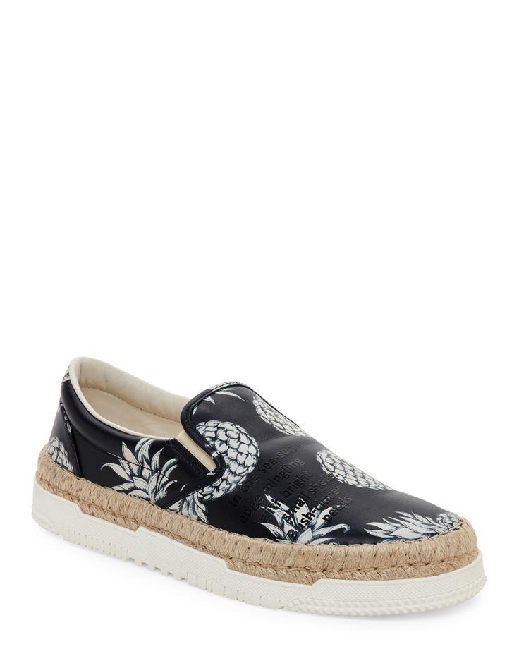 Valentino Garavani Marine Pineapple-Print Slip On Sneakers