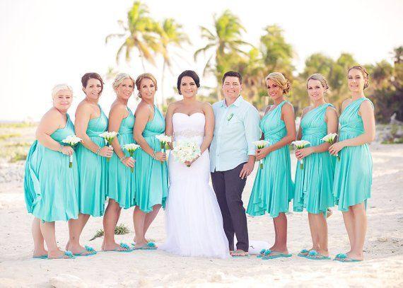 9bb51a60779b1 Turquoise Bridesmaid Dress Convertible Dress Infinity Dress Multiway ...