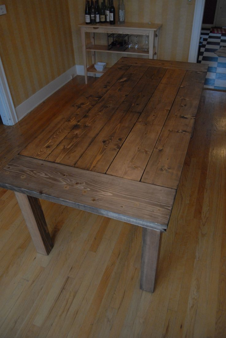 Table success do it yourself home projects from ana white diy 85 - Kitchen Table Diy Boy Do I Like This Will Have To Get Hubby To Do This For Me Some Time Soon Would Make A Great Patio Table