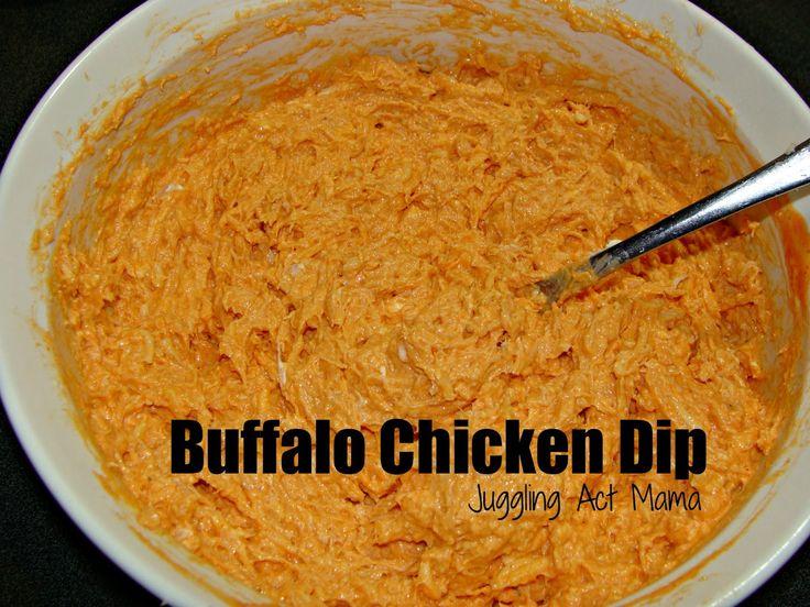 Make Ahead Buffalo Chicken Dip via Juggling Act Mama
