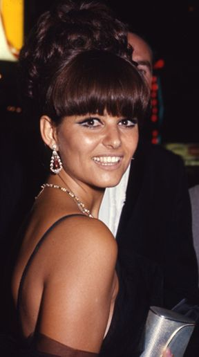 Claudia Cardinale and her cute hair.