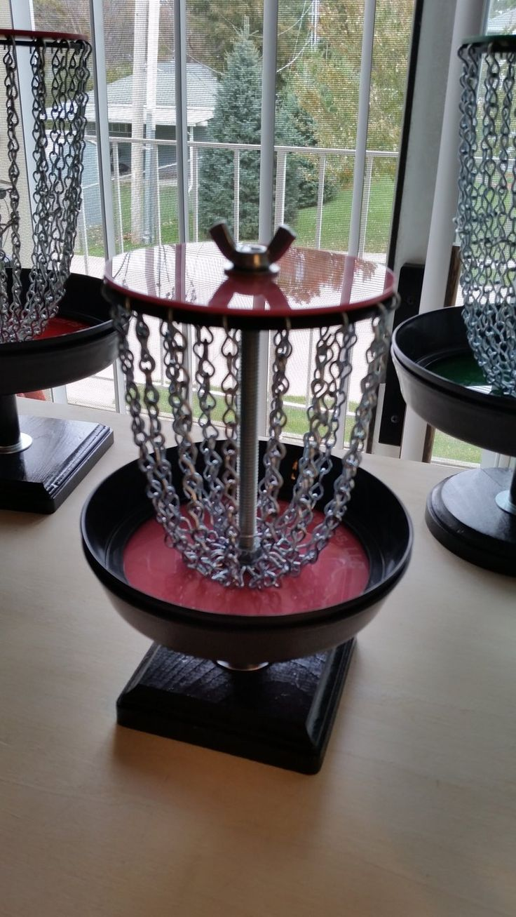 Pink Disc Golf Basket!  Choose your colors and get them personalized!