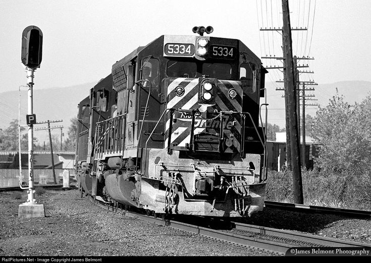 The brutish, business-like appearance of an EMD SD45 leads an eastbound Rio Grande manifest freight into Provo on Oct. 17, 1976.
