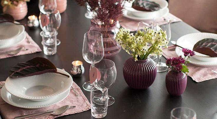 Lekkert høstbord i årets fargetrender - Tilbords inspirerer - Nettbutikk