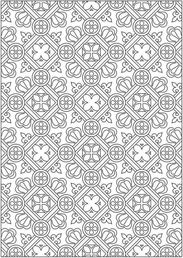 Dover Creative Haven Ornamental Designs Coloring Book (2)
