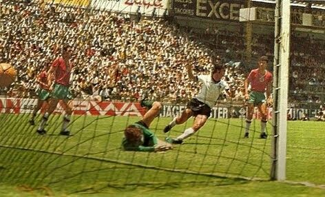West Germany 5 Bulgaria 2 in 1970 in Leon. Gerd Muller makes it a hat-trick as he scores on 88 minutes in Group 4 and its 5-1 at the World Cup Finals.
