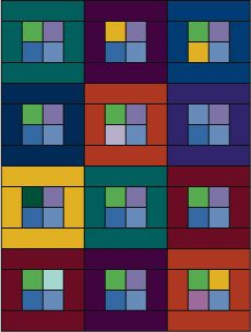 Your Easy Guide to Making Framed Four-Patch Quilt Blocks: Framed Four Patch Quilt Layout Option