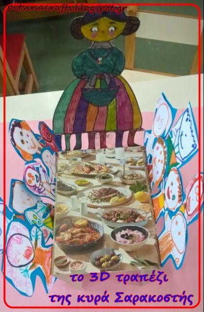 Pitsina Περήφανη Νηπιαγωγός Greek kindergarten teacher: Η ''κυρά Σαρακοστή οικοδέσποινα'' και το 3D σαρακοστιανό τραπέζι της!