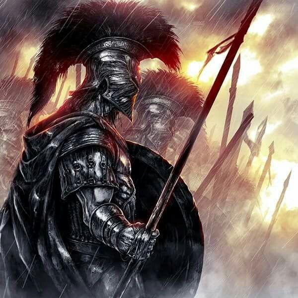 Guerreiro estilo espartano