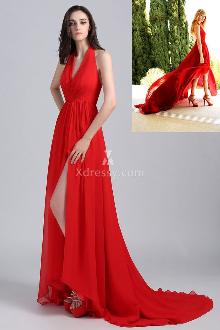 The dress for sale - Taylor Swift Red Prom Dress Inspired By The Cover Of Delta Sky Magazine Sleeveless Halter Prom Dresses For Salered