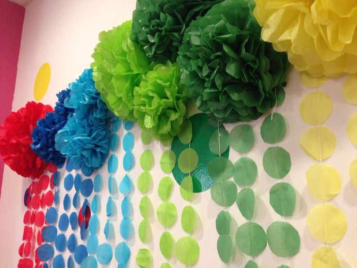Photocoll Colorines Pompones, manualidades, cumpleaños