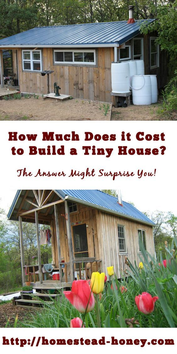 How much does it cost to build a tiny house homesteading for Townhouse construction cost